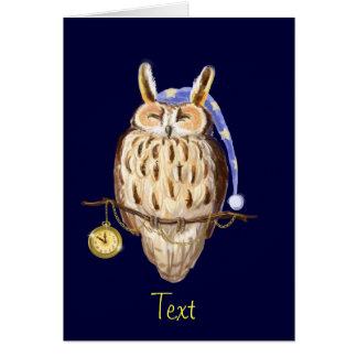 Sleeping owl card
