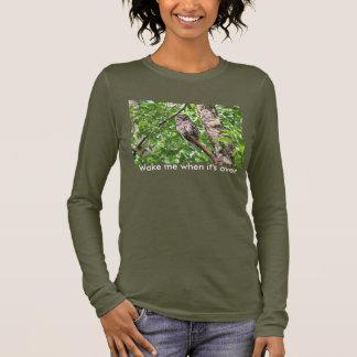 Sleeping Owl in the Wild Long Sleeve T-Shirt