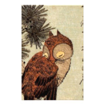 Sleeping Owl Stationery