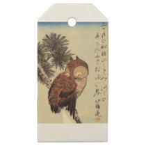 Sleeping Owl Wooden Gift Tags