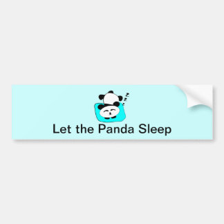 Sleeping Panda Car Bumper Sticker