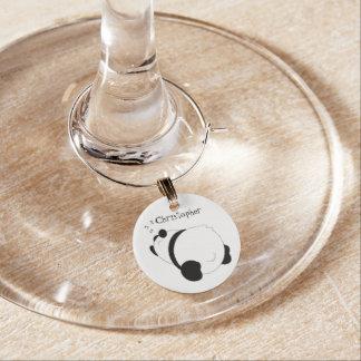 Sleeping Panda Personalized Wine Charm