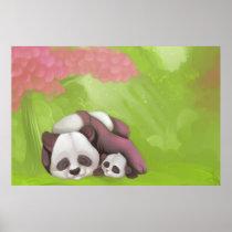 Sleeping Pandas Poster