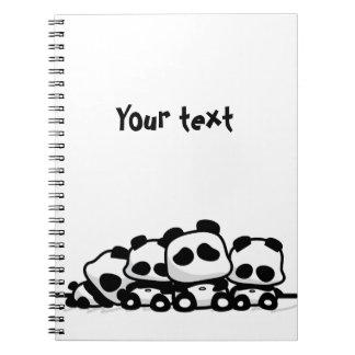 Sleeping Pandas Spiral Notebook
