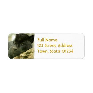 Sleeping Panther Mailing Label