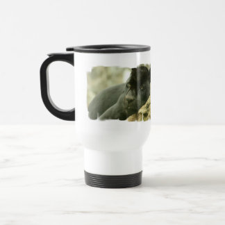 Sleeping Panther Plastic Travel Mug