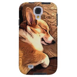 Sleeping Pembroke Welsh Corgi dog Galaxy S4 Case
