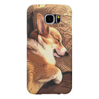 Sleeping Pembroke Welsh Corgi dog Samsung Galaxy S6 Case