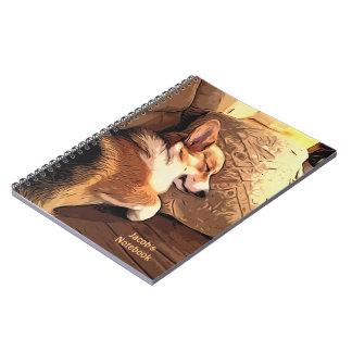 Sleeping Pembroke Welsh Corgi Notebook