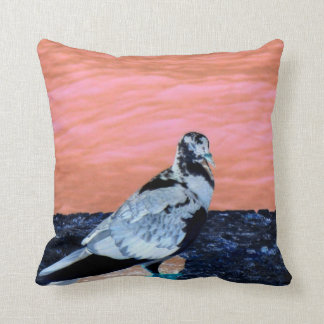 sleeping pied pigeon coral wall blue river invert pillow
