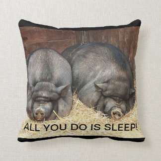 SLEEPING PIG PILLOW - FOR THE ONE YOU LOVE!BY ARA