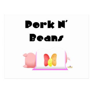 Sleeping Pig Pink Blanket Jelly Beans Pork N' Bean Postcard
