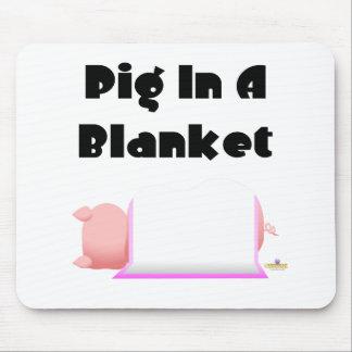 Sleeping Pig Pink Blanket Pig In A Blanket Mouse Pad