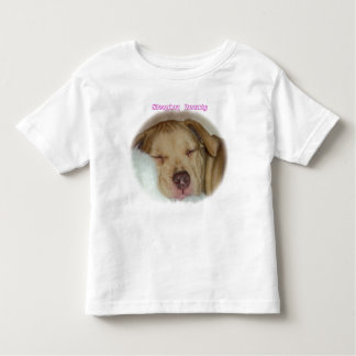 Sleeping Pitbull on Toddler T-shirt