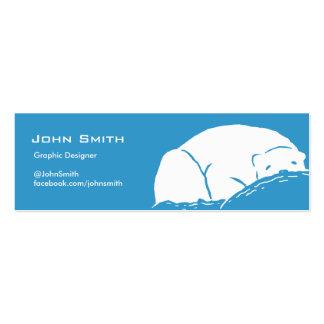 Sleeping Polar Bear Blue Profile Card Business Card Template
