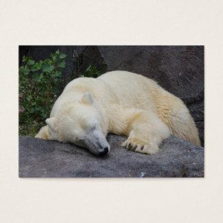 Sleeping Polar Bear Business Card