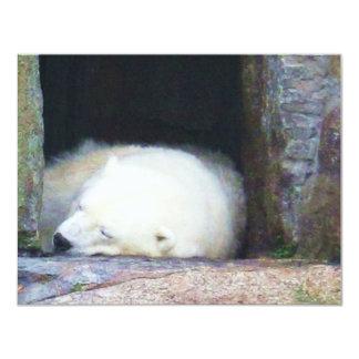 Sleeping Polar Bear Card