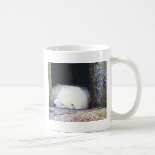 Sleeping Polar Bear Classic White Coffee Mug