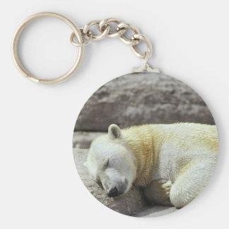 Sleeping Polar Bear Keychain