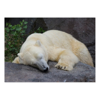 Sleeping Polar Bear Large Business Card
