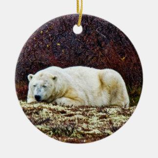 Sleeping polar bear - ornament