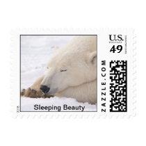 sleeping polar bear postage