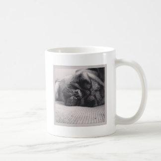 Sleeping Pug Coffee Mug