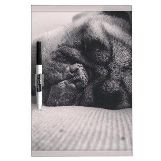 Sleeping Pug Dry Erase Board