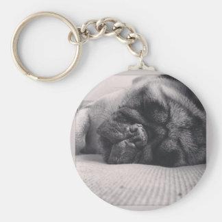 Sleeping Pug Keychains