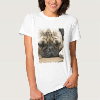Sleeping Pug Ladies T-Shirt