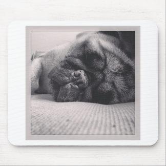 Sleeping Pug Mouse Pad