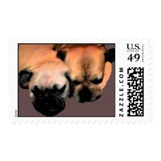 Sleeping Puggles Postage
