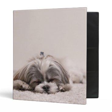 McTiffany Tiffany Aqua Sleeping Puppy 3 Ring Binder