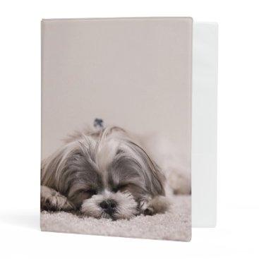 McTiffany Tiffany Aqua Sleeping Puppy Mini Binder