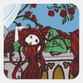 Sleeping Rapunzel Stickers