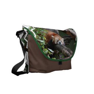 Sleeping Red Panda Messenger Bag