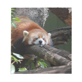 Sleeping Red Panda Notepad