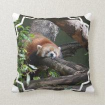 Sleeping Red Panda Pillow