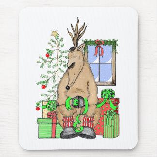 Sleeping Reindeer Mouse Pad