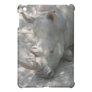Sleeping Rhino head shot iPad Mini Case