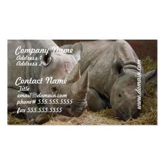 Sleeping Rhinos Business Cards