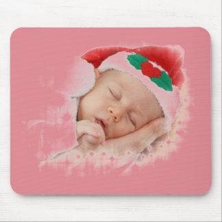 Sleeping Santa Baby Mouse Pad