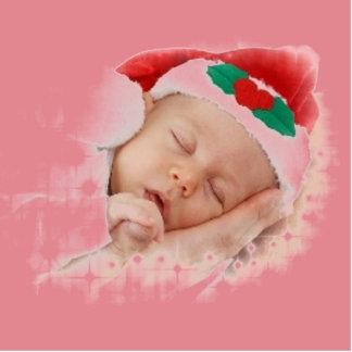 Sleeping Santa Baby Photo Cutouts