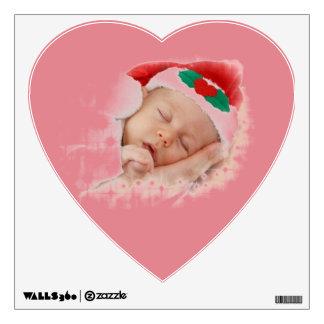 Sleeping Santa Baby Wall Decal