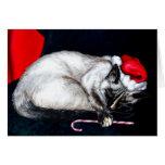 Sleeping Santa Claws Greeting Card