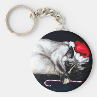 Sleeping Santa Claws Keychain