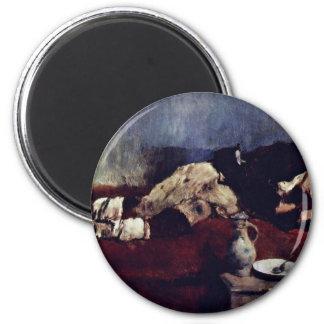 Sleeping Savoyard Boy By Leibl Wilhelm Fridge Magnet
