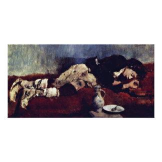 Sleeping Savoyard Boy By Leibl Wilhelm Photo Greeting Card