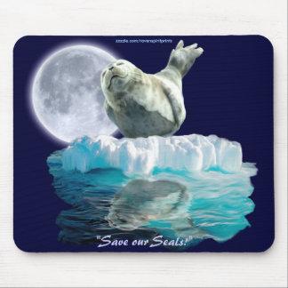 Sleeping Seal-Pup & Moon Wildlife Lover Mousepad