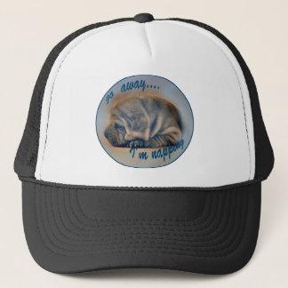 Sleeping Shar Pei Puppy Trucker Hat